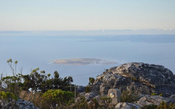 vue sur Robben Island.