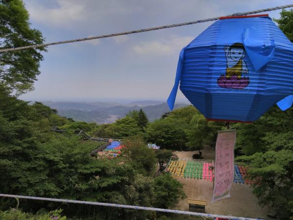 Vue depuis la grotte de Seokguram, 2018, SB.