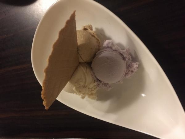 Glace gout violette - vanille - noisette