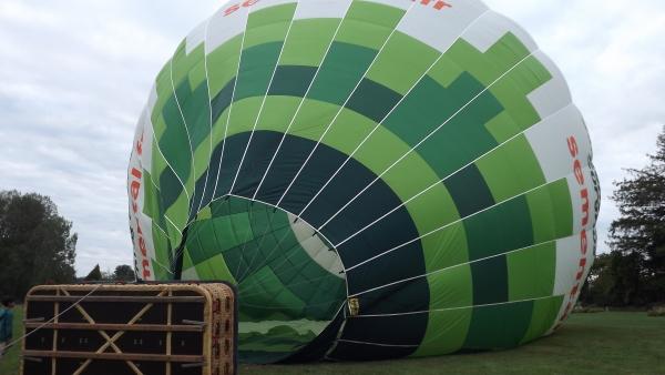 gonflage du ballon