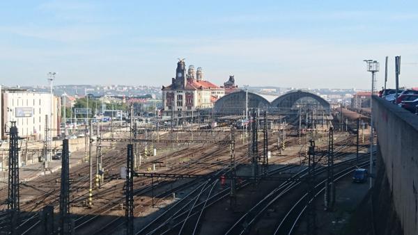 vue générale de la gare
