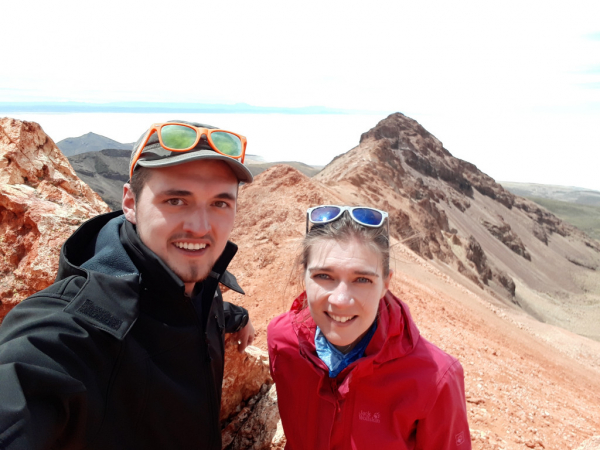photo : dans le cratère du volcan tunupa 4900m d'alitude =>  rando )