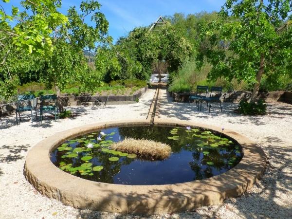 En plus des vignes beaucoup de propriétés ont leur jardin. Celui de Babylonstoren est très bien arrangé.