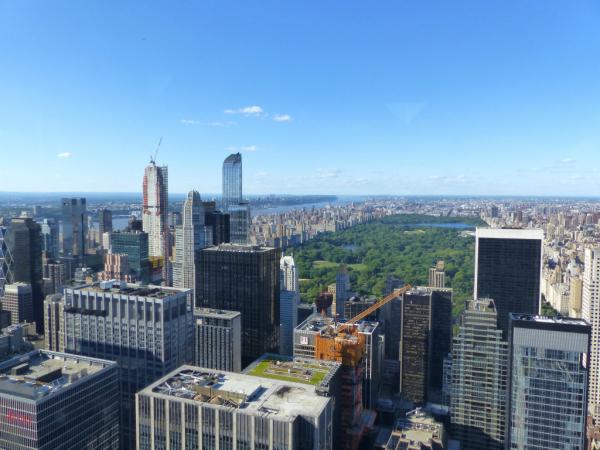 Vue sur Central Park depuis Top of the Rock Observation Deck, juin 2017, SB