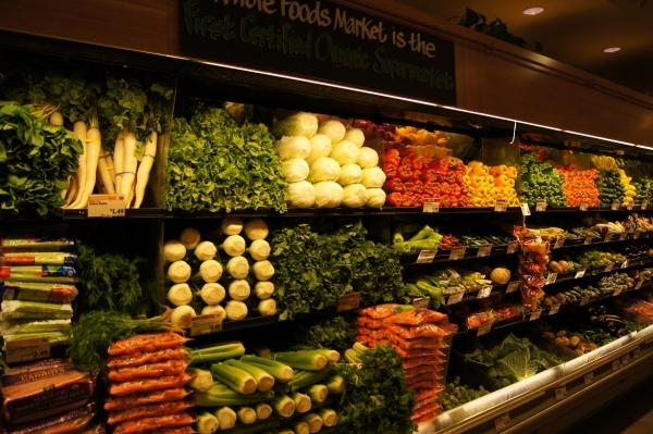 rayon légumes en entrant ds supermarché