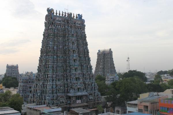 Les tours du temple de Sri Meenakshi