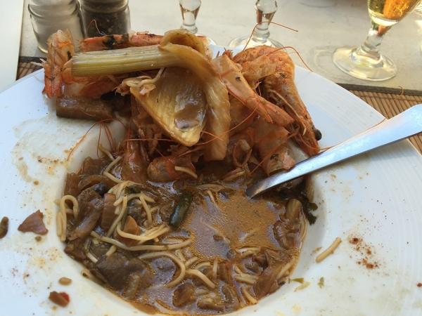 Wok de crevettes proposé par chez Richard