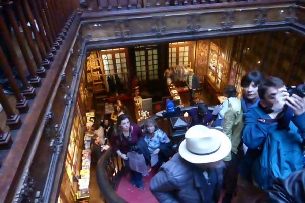 intérieur de la librairie