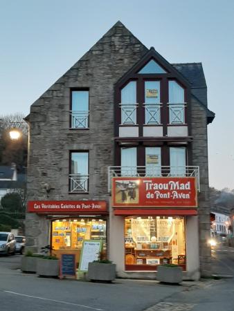 L'un des magasins de la Biscuiterie Traou Mad à Pont-Aven