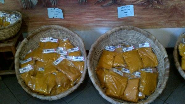 Diverses variétés de curcuma.