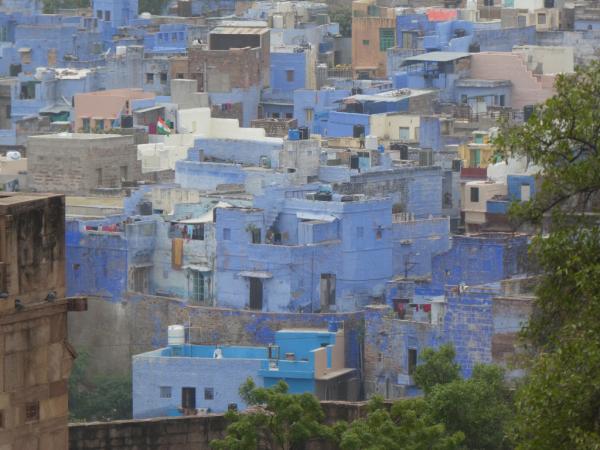 la ville bleue vue du fort