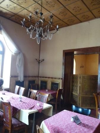 Salle à manger intérieur dans le bâtiment principal datant de la fin du XIXe.