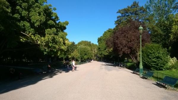 Parc Monceau  : Allée centrale