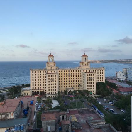 Vue sur l'hotel Nacional de Cuba