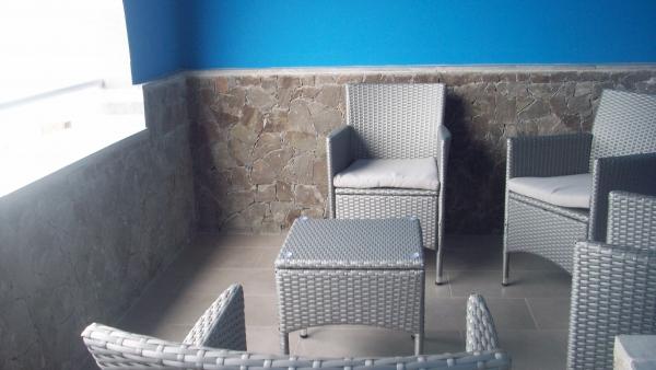 La terrasse de la chambre