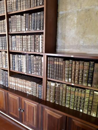 La zone du deuxième étage de la bibliothèque de l'université à Coimbra, Portugal