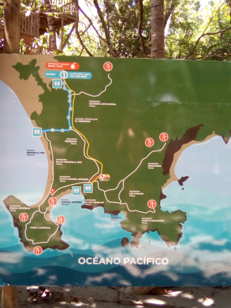 plan du Parc Manuel Antonio