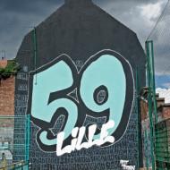 Fresque rue de l'usine à Lille.