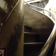 l'escalier pour monter jusqu'à la couronne...très étroit...
