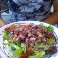 Salade de poulpe exotique !