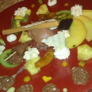 Un rêve des îles : ananas, mangue, chocolat en divers textures