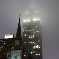 Empire State Building un soir dans la brume, juin 2017, SB