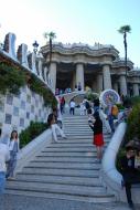Barcelone, Parc Güell, escalier