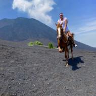 Horse riding on the stunning volcano Pacaya
