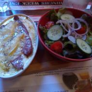 Exemple de gratin avec petite salade