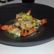 crevettes sauvages, sauce vierge, yaourt et agrumes