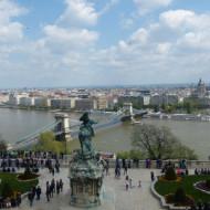 pas mal la vue sur le pont symbole de Budapest