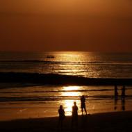 Lumières du coucher de soleil à Kuta