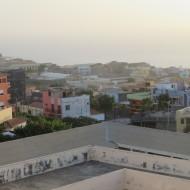 La vue sur Sao Filipe  depuis la terrasse de la pensions Eliane Clarice