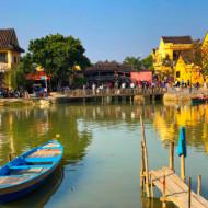 Le magnifique pont japonais dans la pittoresque petite ville vietnamienne d'Hoi An
