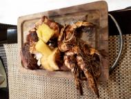 Mixte de viandes de boeuf, poulet et gambas