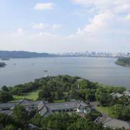 Vue d'une partie du lac et de la ville depuis la pagode Leifeng