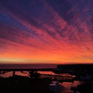 lever de soleil vue depuis l'hôtel