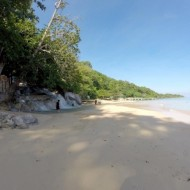 début de la cascade sur la plage