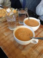 la soupe de homard