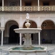 la cour intérieur et sa fontaine