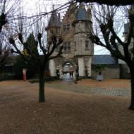 Intérieur de la cour du château Angers