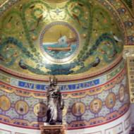 La mosaïque dans l'abside centrale