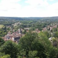 Le domaine vu depuis le château de la Madeleine
