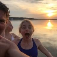 La baignade au lac mais oui ! même en Carelie le temps était superbe