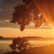 Coucher de soleil sur e Lac Saint-Louis.