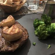 Cœur de rumsteck et foie gras poêlé.