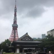 Vue de la tour de Tokyo depuis le Parc de Shiba