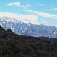 vue de la citadelle de BERAT vers les montagnes
