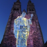 Saint-Martin affiché sur la cathédrale