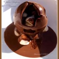 Sphère chocolaté & châtaigne d'Ardèche